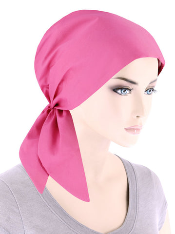 SCS-HPINK#Cotton Scarf in Hot Pink