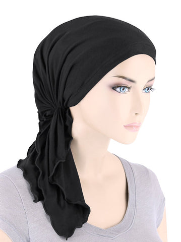 BELLA-BB-778#The Bella Scarf Bamboo Onyx Black
