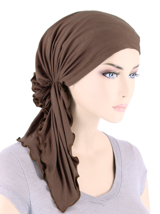 BELLA-BB-779#The Bella Scarf Bamboo Cedar Brown