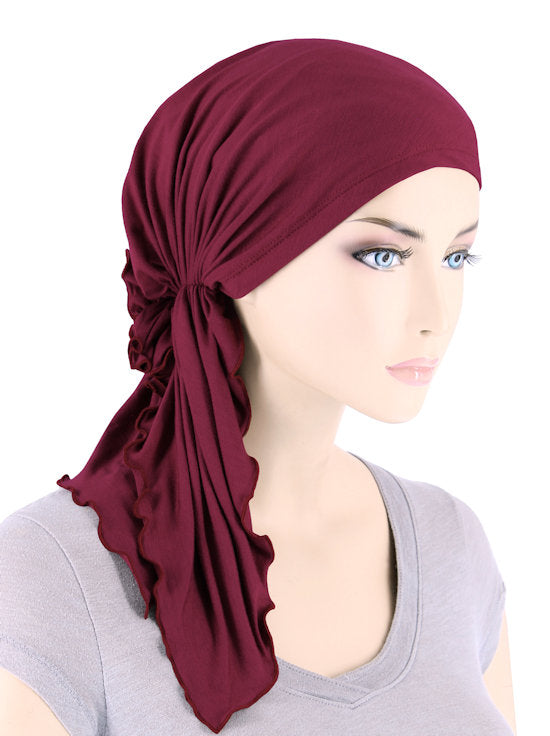 BELLA-BB-790#The Bella Scarf Bamboo Burgundy