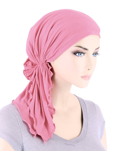 BELLA-BB-793#The Bella Scarf Bamboo Cashmere Pink