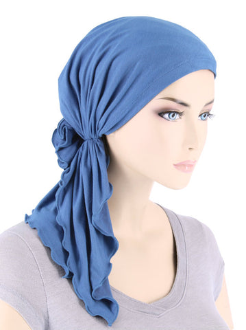 BELLA-BB-786#The Bella Scarf Bamboo Periwinkle Blue