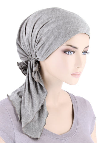 BELLA-BB-782#The Bella Scarf Bamboo Heather Gray