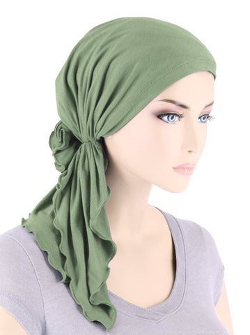 BELLA-BB-788#The Bella Scarf Bamboo Sage Green