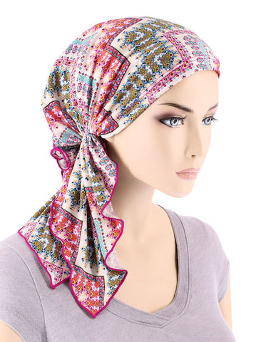 BELLA-727#The Bella Scarf Chevron Dainty Multi Paisley
