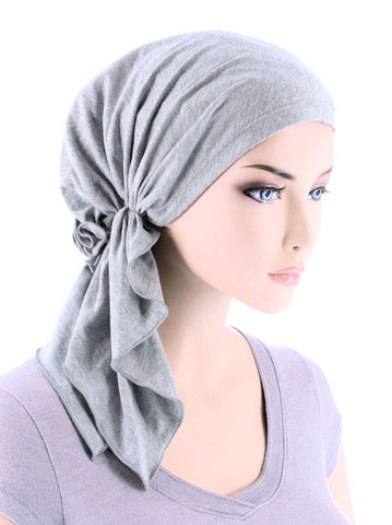 BELLA-732#The Bella Scarf Heather Gray