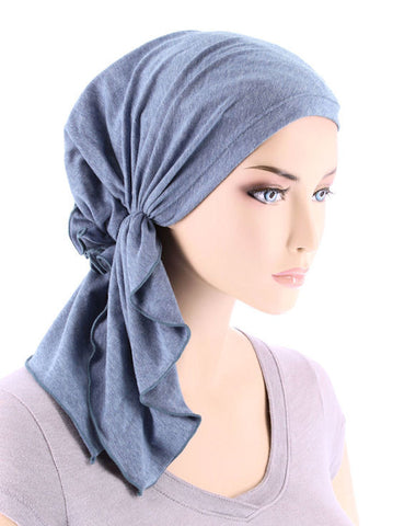 BELLA-733#The Bella Scarf Light Denim
