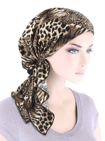 BELLA-750#The Bella Scarf Leopard Brown Beige