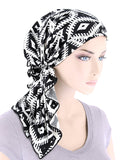 BELLA-762#The Bella Scarf Geometric Black and White