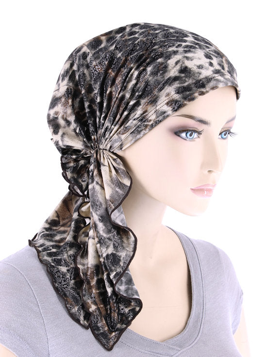 BELLA-764#The Bella Scarf Leopard Brown Shimmer