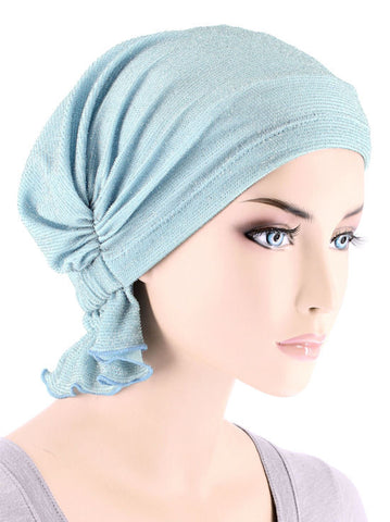 ABBEY-526#The Abbey Cap in Barely Blue Shimmer Print