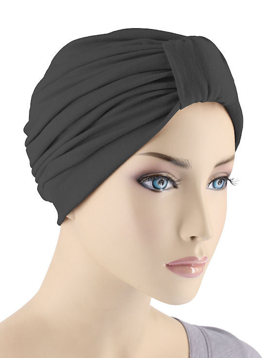 GKT-BLACK#Classic Cotton Turban in Black