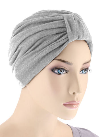 GKT-HEATHERGRAY#Classic Cotton Turban in Heather Gray