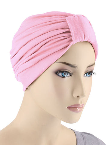 GKT-LTPINK#Classic Cotton Turban in Light Pink