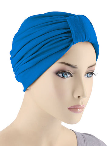 GKT-ROYAL#Classic Cotton Turban in Royal Blue