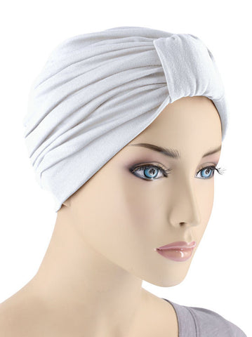 GKT-WHITE#Classic Cotton Turban in White