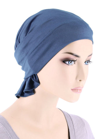 CE-BDNAWRAP-DUSTYBLUE#Bandana Wrap in Dusty Blue