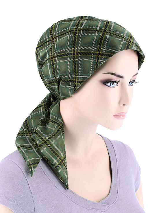 CFS-1062#Chemo Fashion Scarf Irish Green