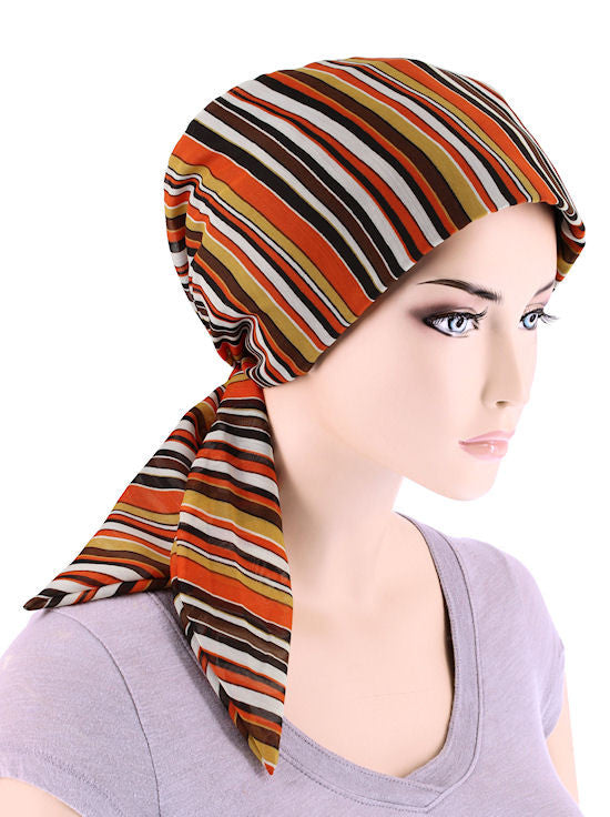 CFS-1074#Chemo Fashion Scarf Harvest Brown
