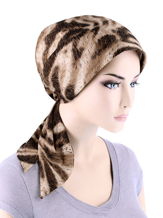 CFS-1128#Chemo Fashion Scarf Leopard Brown