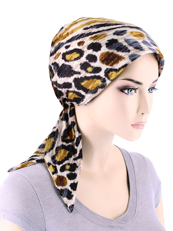 CFS-1134#Chemo Fashion Scarf Animal Safari