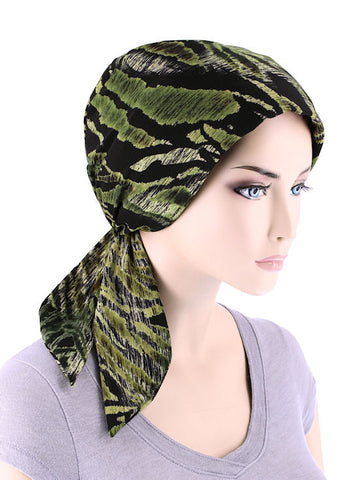 CFS-1135#Chemo Fashion Scarf Jungle Animal Stripe