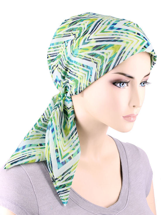 CFS-1138#Chemo Fashion Scarf Rip tide