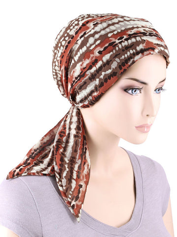 CFS-1081#Chemo Fashion Scarf Summer in Tuscany