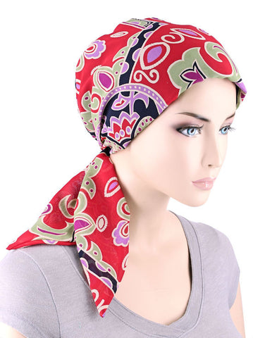CFS-1089#Chemo Fashion Scarf Tropical Paisley