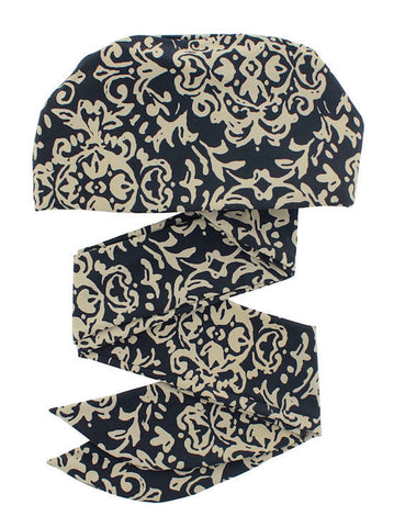 WPS-869#Chemo Head Wrap Scarf in Beige Baroque Print