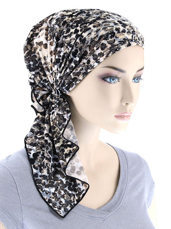 Chemo Scarves The Bella Scarf Cobblestone  Turban Plus Wholesale Chemo Fashion Scarf Bella