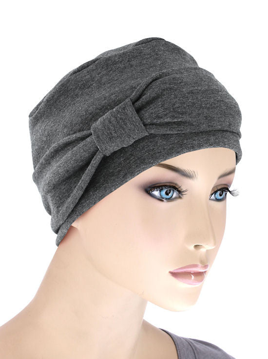 NCC-CHARCOAL#Comfort Cap w/Headband in Charcoal Gray