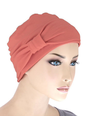 NCC-CORAL#Comfort Cap w/Headband in Coral Pink