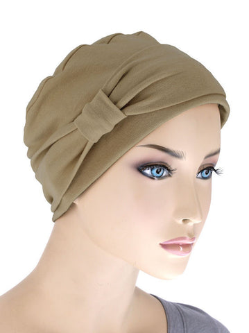 NCC-MOCHA#Comfort Cap w/Headband in Mocha Brown