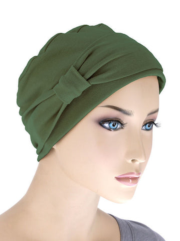 NCC-OLIVE#Comfort Cap w/Headband in Olive Green