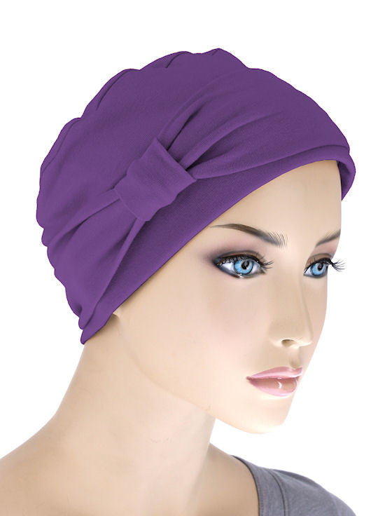 NCC-PURPLE#Comfort Cap w/Headband in Purple