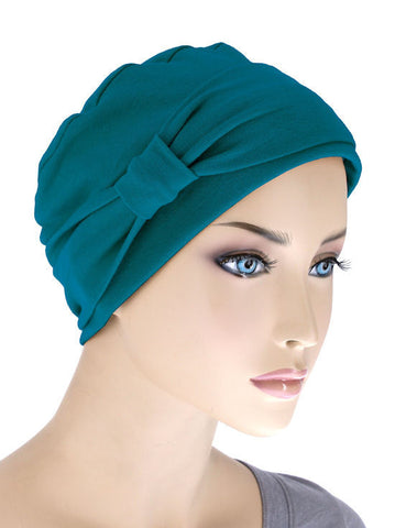 NCC-TEAL#Comfort Cap w/Headband in Teal Blue