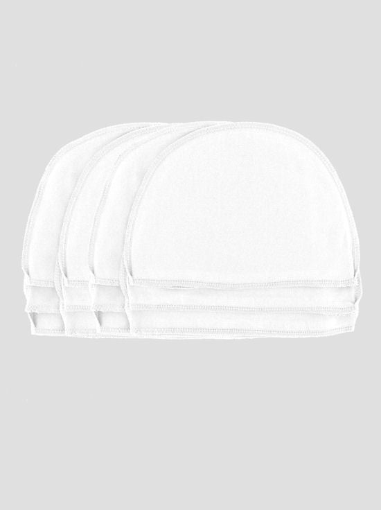 WL-WHITE12#Cotton Wig Liner in White 12 pc Pack