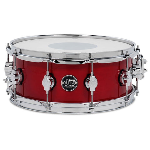 "DRUM WORKSHOP 14"" x 6.5"" PERFORMANCE SERIES MAPLE SNARE DRUM IN CANDY APPLE RED"