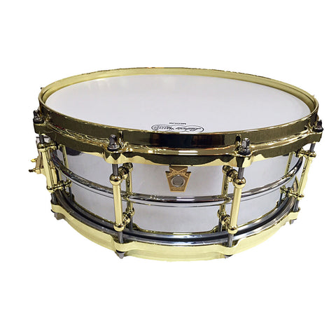 "LUDWIG CHROME OVER BRASS MILLENNIUM 14"" X 5"" SNARE DRUM LB400BBTWM"