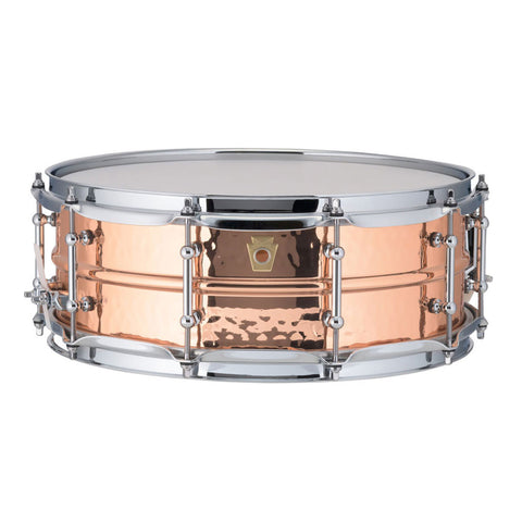 "LUDWIG HAMMERED COPPER PHONIC 14"" X 5"" SNARE DRUM LC660KT"