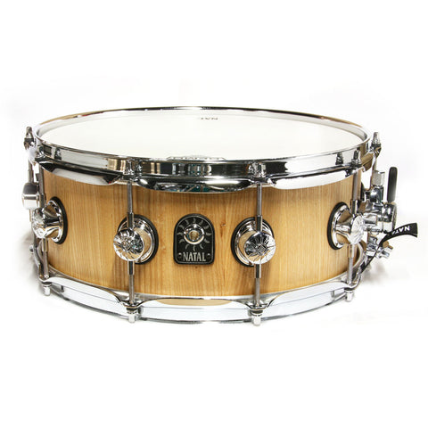 "NATAL PURE STAVE 14"" X 5.5"" ASH SNARE DRUM IN NATURAL FINISH    SD-C-AS45-NW"