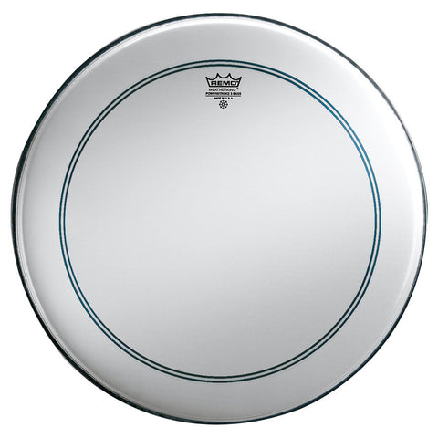 "REMO 24"" POWERSTROKE P3 CLEAR BASS DRUM HEAD + CLEAR DOT    P3-1324-C2"