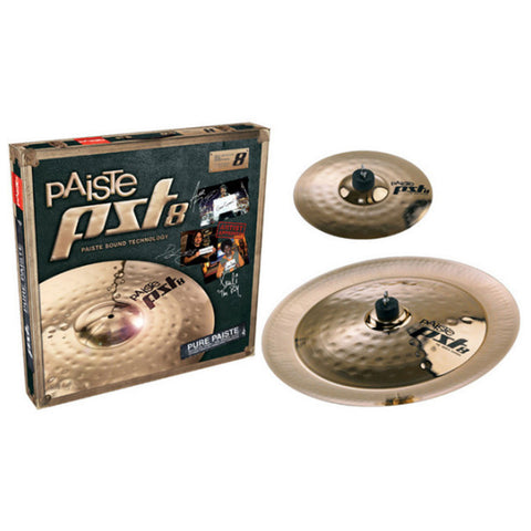 "PAISTE PST8 ROCK EFFECTS PACK, 10"" ROCK SPLASH & 18"" ROCK CHINA  -  PST8BS2RFX"