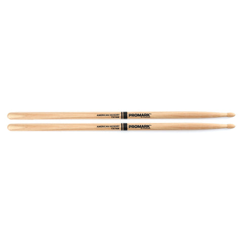PROMARK 7A HICKORY WOOD TIP DRUMSTICKS    TX7AW