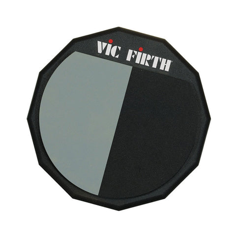 "VIC FIRTH 12"" SPLIT FACE PRACTICE PAD    VF-PAD12H"