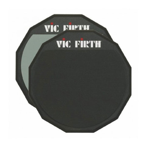 "VIC FIRTH 12"" DOUBLE SIDED PRACTICE PAD    VF-PAD12D"