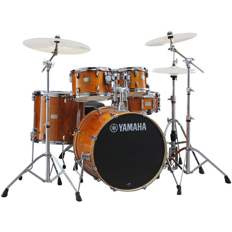 YAMAHA STAGE CUSTOM BIRCH DRUM KIT IN HONEY AMBER JSBP2F5HA6W