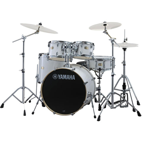 YAMAHA STAGE CUSTOM BIRCH DRUM KIT IN PURE WHITE JSBP2F5PWH6W