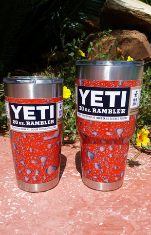 Competition Orange _ YETI Rambler Tumbler